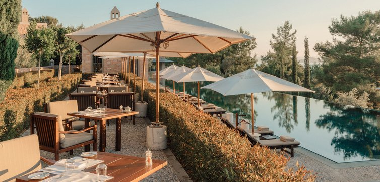 Amanruya Turkey Main Pool Dining Terrace High